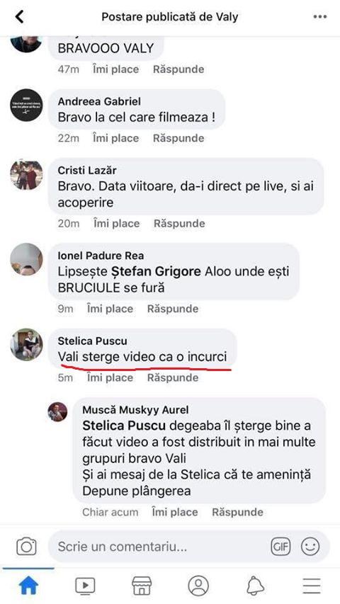 """Pădurar filmat în Plopșoru în timp ce asista la tăieri ilegale de lemne :  """"Vali  șterge video că o încurci"""""""